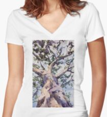 Gum Tree Women's Fitted V-Neck T-Shirt