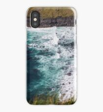 Surf breaking on the Cliffs of Moher iPhone Case/Skin