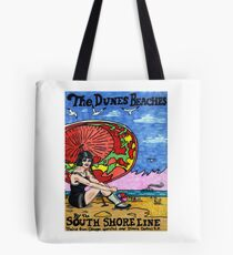 A Day At the Beach, 1920's Style Tote Bag