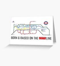 Newton Aycliffe - Born & Raised (Tube Style Map) - Shafto/Middridge Greeting Card