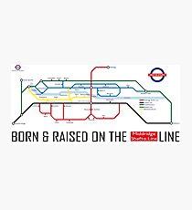 Newton Aycliffe - Born & Raised (Tube Style Map) - Shafto/Middridge Photographic Print