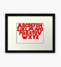 English Alphabet  Framed Print