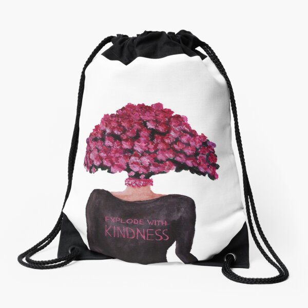 Explode With Kindness Drawstring Bag