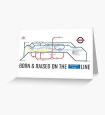 Newton Aycliffe - Born & Raised (Tube Style Map) - Burnhill Greeting Card