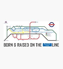Newton Aycliffe - Born & Raised (Tube Style Map) - Burnhill Photographic Print
