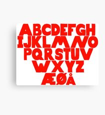 Norwegian Alphabet  Canvas Print