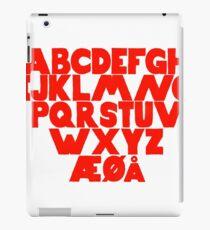 Norwegian Alphabet  iPad Case/Skin