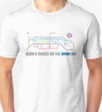 Newton Aycliffe - Born & Raised (Tube Style Map) - Burnhill T-Shirt