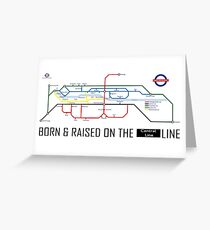 Newton Aycliffe - Born & Raised (Tube Style Map) - Central Greeting Card