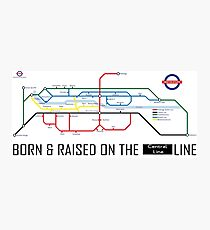 Newton Aycliffe - Born & Raised (Tube Style Map) - Central Photographic Print