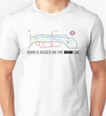Newton Aycliffe - Born & Raised (Tube Style Map) - Central T-Shirt