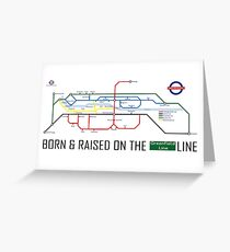 Newton Aycliffe - Born & Raised (Tube Style Map) - Greenfield Greeting Card