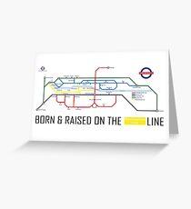 Newton Aycliffe - Born & Raised (Tube Style Map) - Westmorland Greeting Card