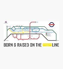 Newton Aycliffe - Born & Raised (Tube Style Map) - Westmorland Photographic Print