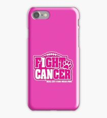 I Can Fight BREAST CANCER Real CAT Fans Wear Pink  iPhone Case/Skin