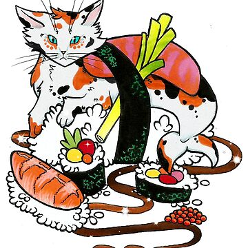 Cat Sushi Love by ValentinasWorks