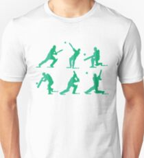 Cricket Player Silhouettes T-Shirt