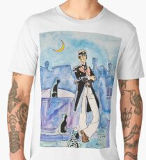 Corto Maltese with cats  Men's Premium T-Shirt