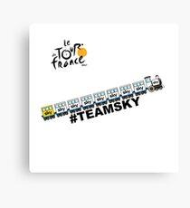 Team Sky Train Canvas Print
