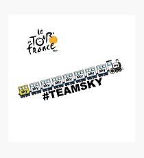 Team Sky Train Photographic Print