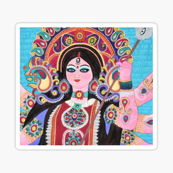 Maa Durga Sticker Photo