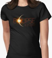 Solar Eclipse, Total Eclipse, Eclipse August 2017  Women's Fitted T-Shirt