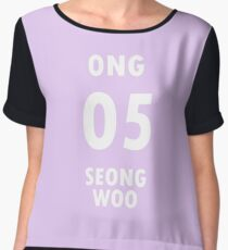 Wanna One (워너원) - Ong Seongwoo #6 LIGHT PURPLE Women's Chiffon Top