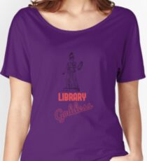 Library Goddess. T shirt for everyone's favorite library goddess. Women's Relaxed Fit T-Shirt