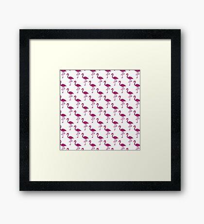 Sparkly flamingo Pink glitter sparkles pattern Framed Print