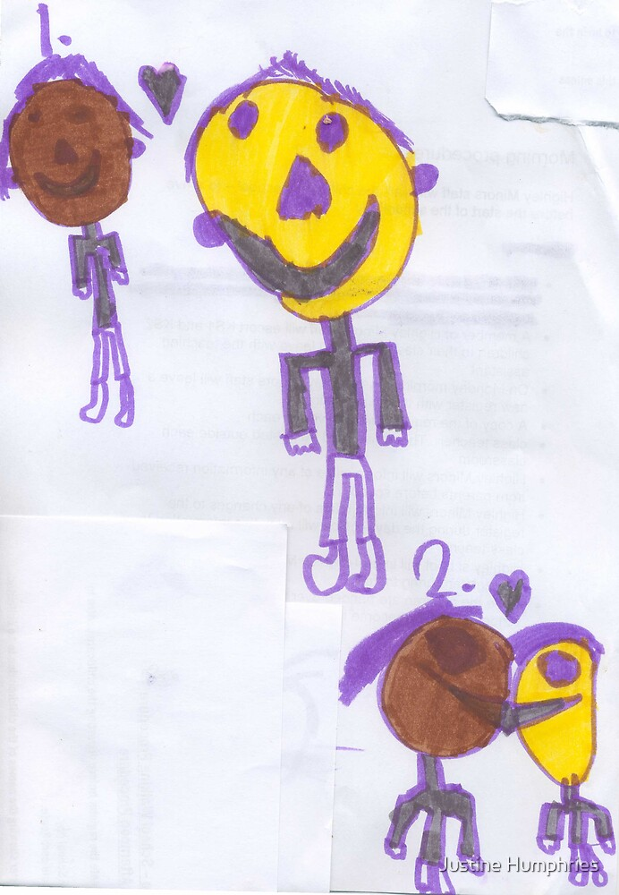 Falling in love - by Richard aged 7 by Justine Humphries