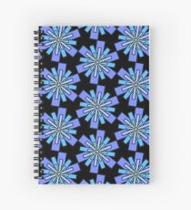 Square Snowflakes Spiral Notebook