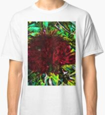 Red Flower in the Shadows and Bright Green Leaves Classic T-Shirt