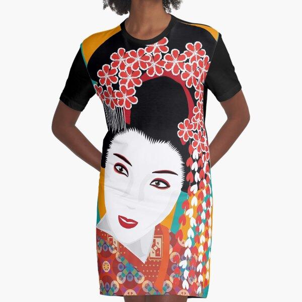 Japanese Geisha T-Shirt Kleid