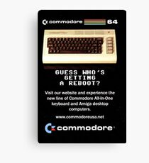 Commodore 64 Retro Computer Canvas Print