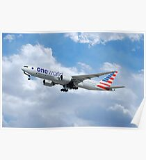 American Airlines Boeing 777 One World Poster