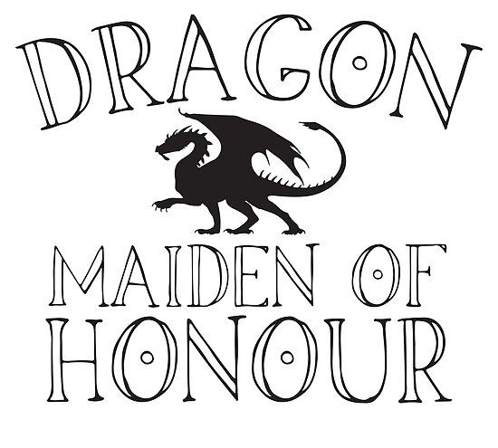 Dragon Maiden Of Honour For A Dragon Themed Wedding Posters By