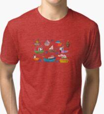 So many boats! Tri-blend T-Shirt