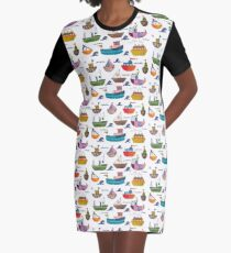 So many boats! Graphic T-Shirt Dress