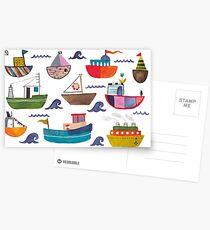 So many boats! Postcards
