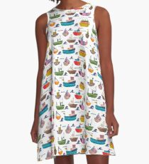 So many boats! A-Line Dress