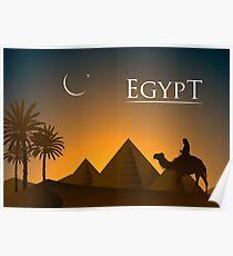 Egypt Landscape Traveller Poster