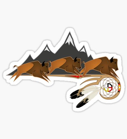 Buffalo People Sticker