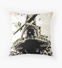 Drunken Wind Mill Throw Pillow