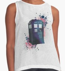 Doctor Who - TARDIS - geometrical - watercolor Contrast Tank