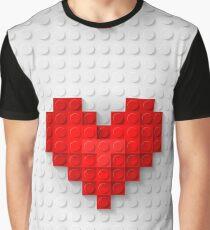 Construction brick hearts Graphic T-Shirt
