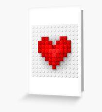 Construction brick hearts Greeting Card