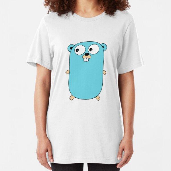 Go Golang Gopher Camiseta ajustada