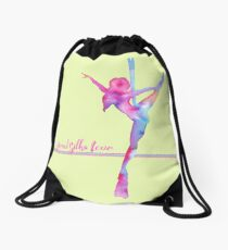 Aerial silks Love Drawstring Bag