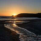 Sunset over Ownahincha beach, Rosscarbery, County Cork, Ireland by Andrew Jones