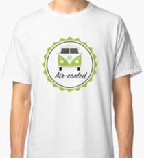 Green VW Camper split screen air-cooled Classic T-Shirt